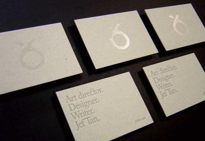 Chrome-foil-business-card-sample