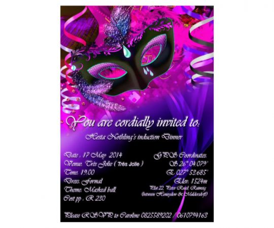 Lady's circle Hesters-invite