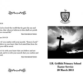 IR-Griffith-Easter-service-program-cover