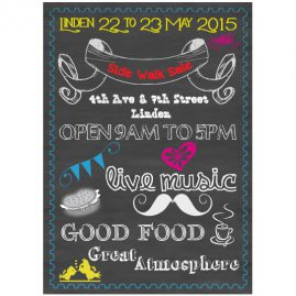 Linden-Community-Side-Walk-sale---chalk-board-poster