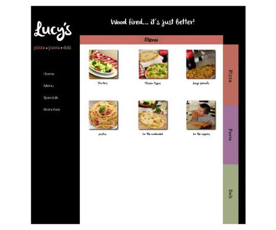 Lucys-Menu-selection-page