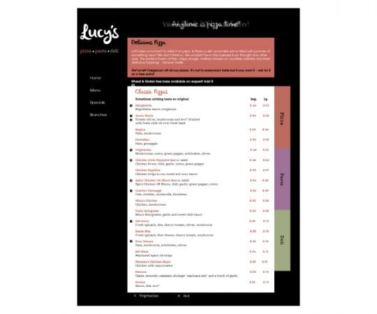 Lucys-menu-page