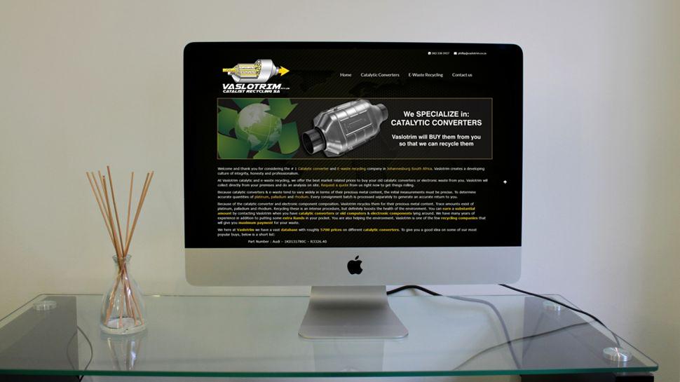 Vaslotrim website design by Living Graphix design and digital marketing agency