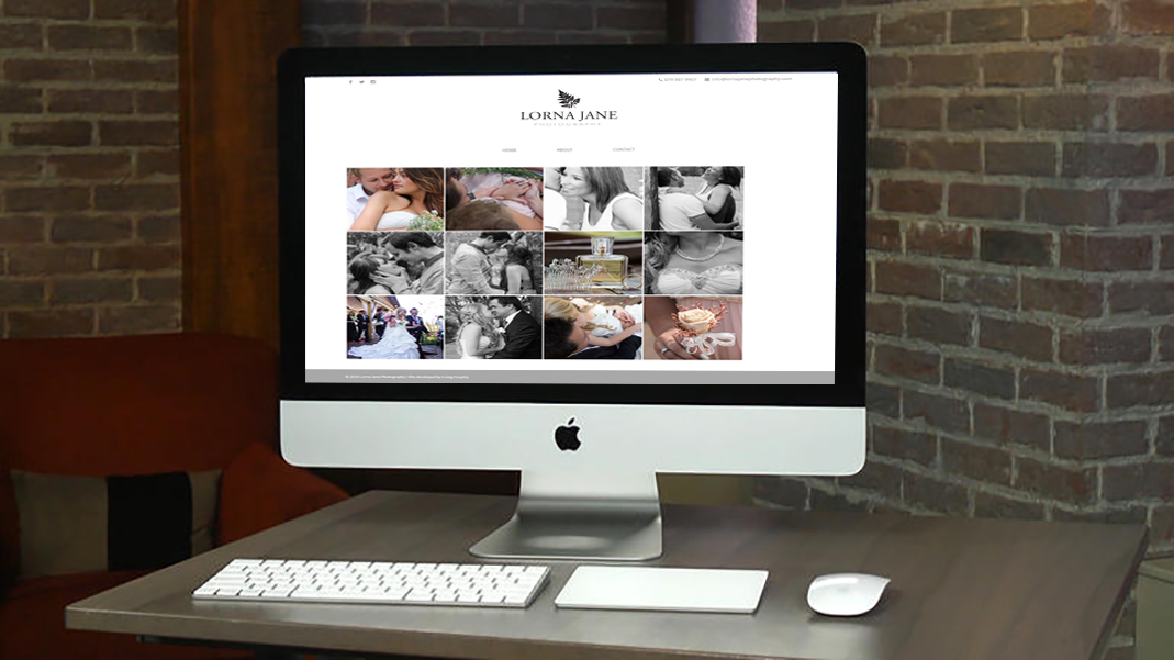 Lorna Jane Photography website design by Living Graphix design and digital marketing agency