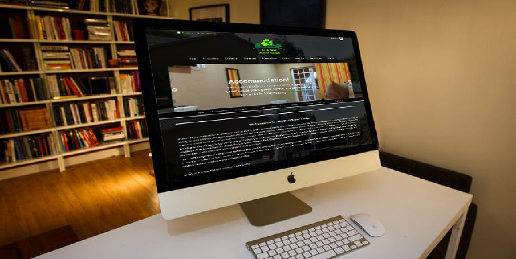 In and Out Guest Lodge website design by Living Graphix design and digital marketing agency