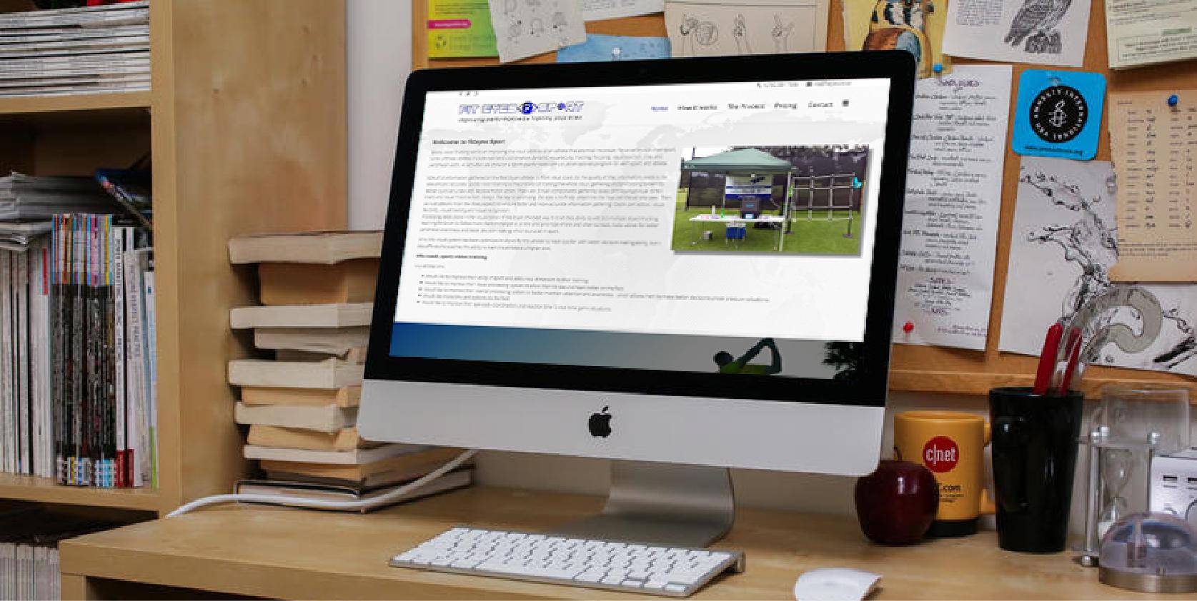 Fiteyes website design by Living Graphix design and digital marketing agency
